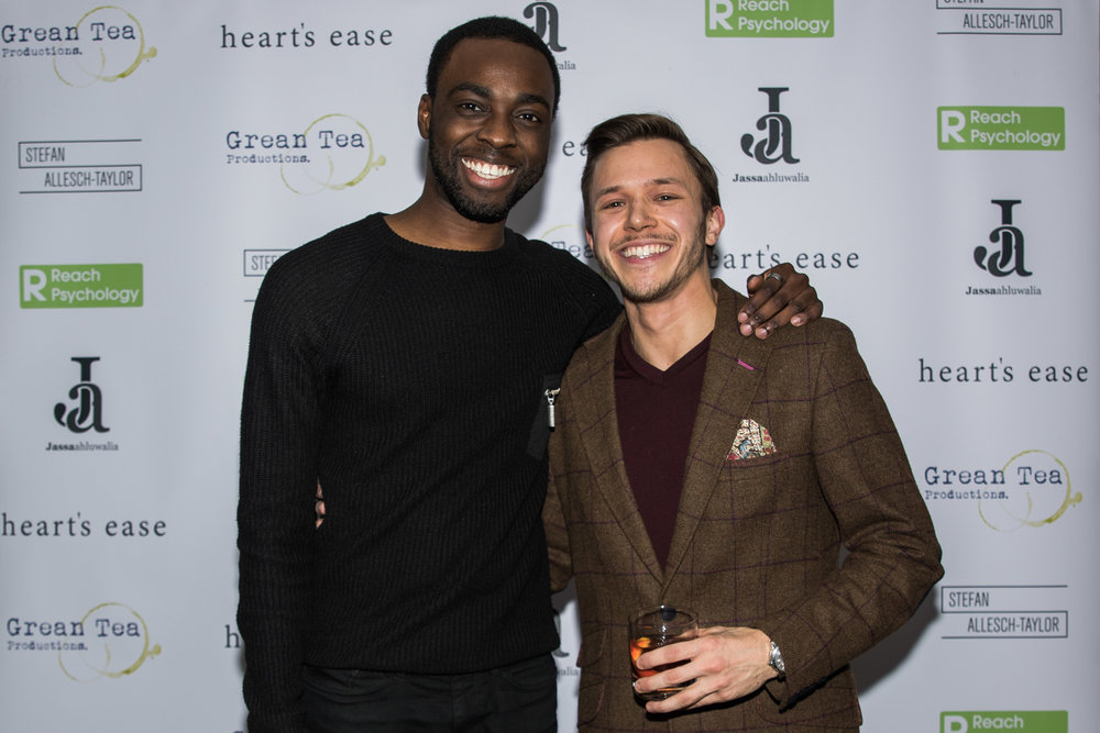 Cory Chambers and Jassa Ahluwalia attends the cast and crew screening of Heart's Ease.