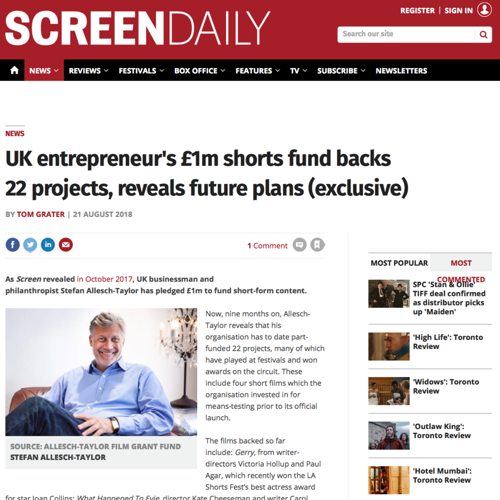 Screen International: Shorts