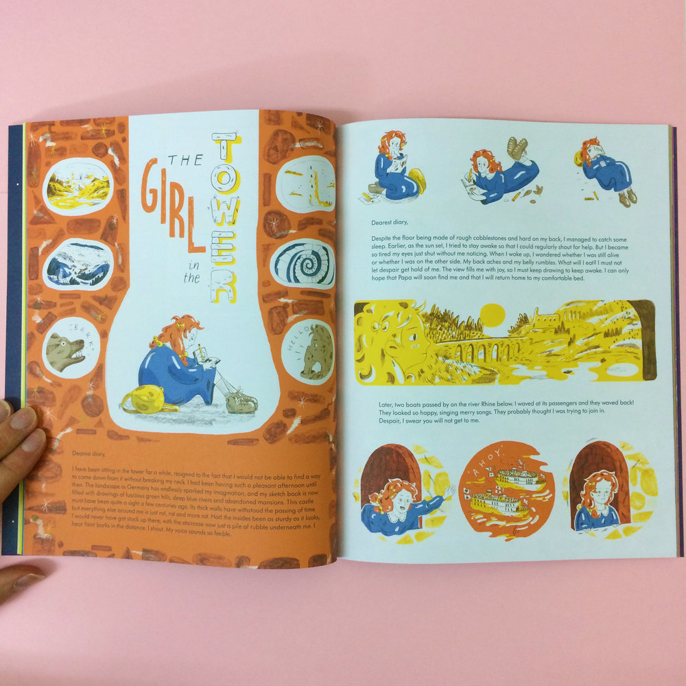 'The Girl in the Tower' Spreads for Anorak Magazine #44, 2017.