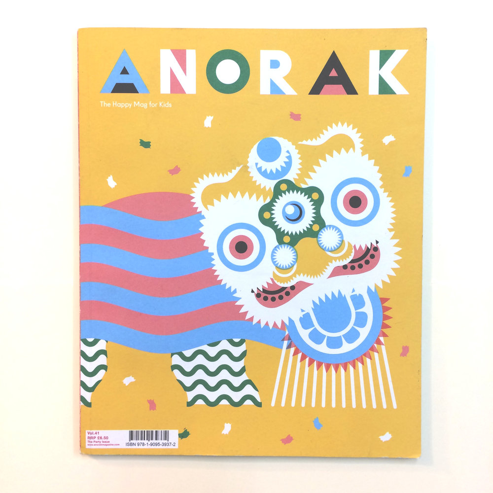 The cover of Anorak Magazine #41, 2016.
