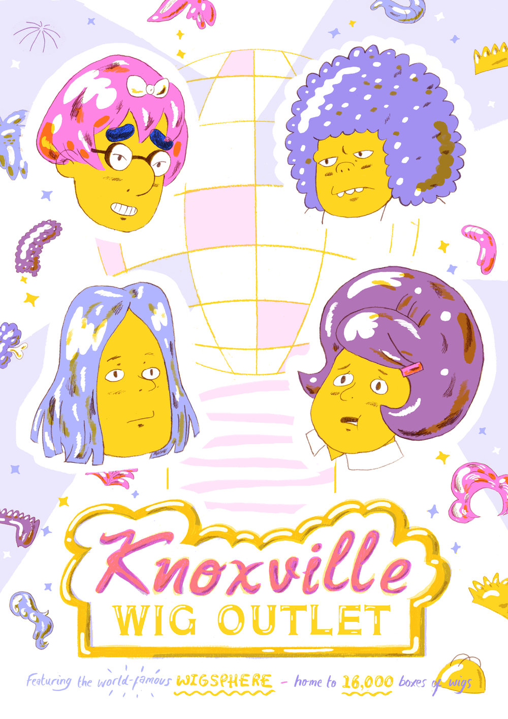 'Knoxville Wig Outlet', 2017. Piece for MMM... Culture, Bristol.
