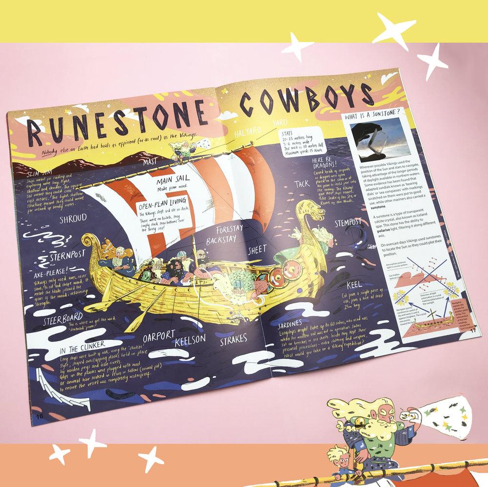 'Runestone Cowboys', Aquila Magazine, 2018.