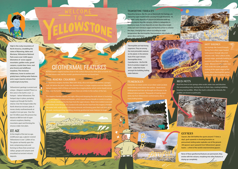 'Weclome to Yellowstone', for Aquila Magazine's 'Super Volcano's' Issue. Jan 2019.