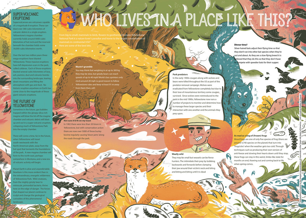 'Who Lives In A Place Like This?' (Welcome to Yellowstone Pt.2) for Aquila Magazine's 'Super Volcano's' Issue. Jan 2019.