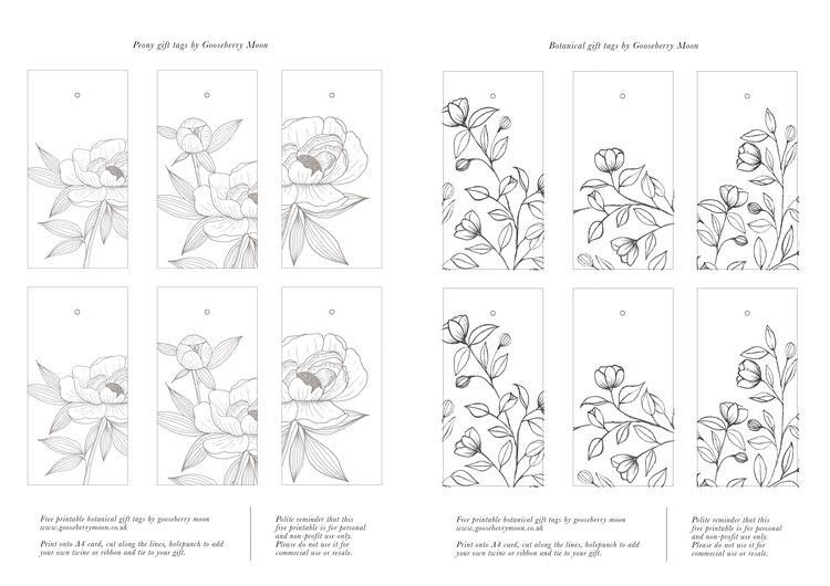free printable gift tags gooseberry moon