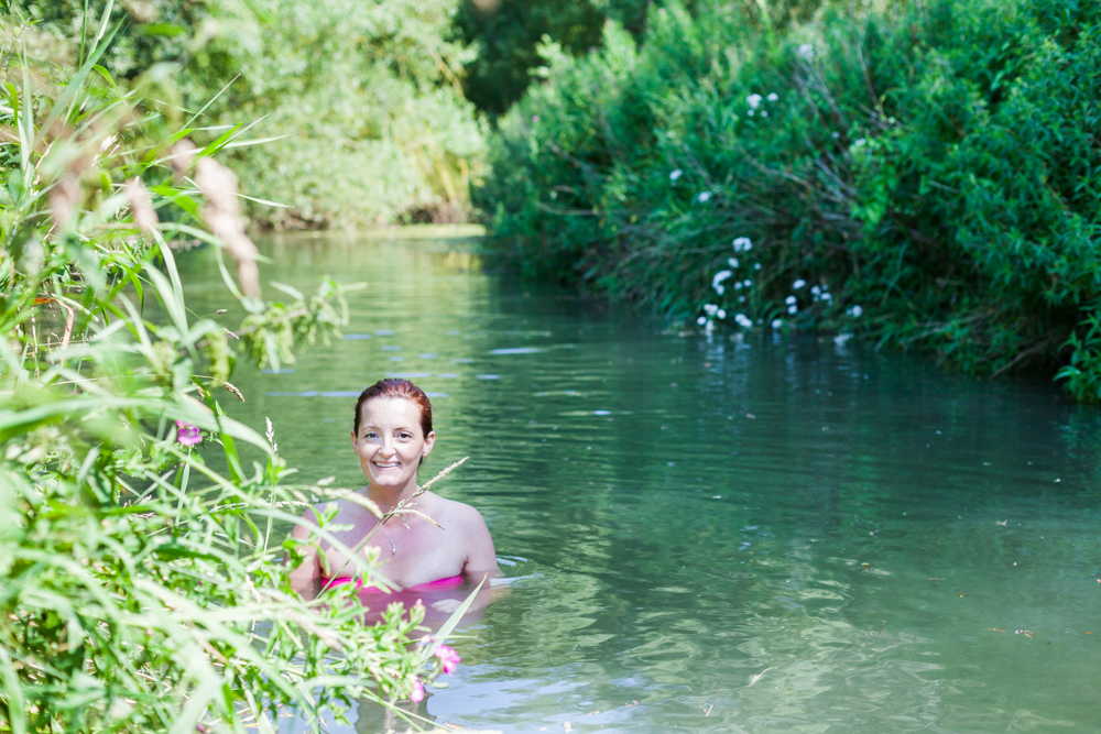 Wild swimming in the River Cherwell