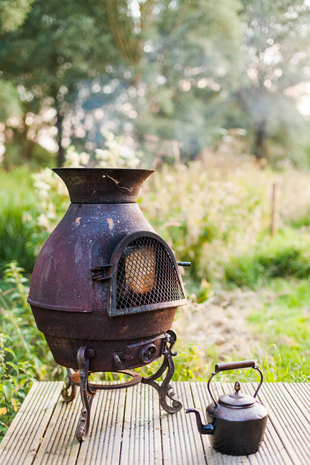 People love to know what there is to cook on and imagine themselves in the weeks running up to their holiday, cooking on that chiminea for example