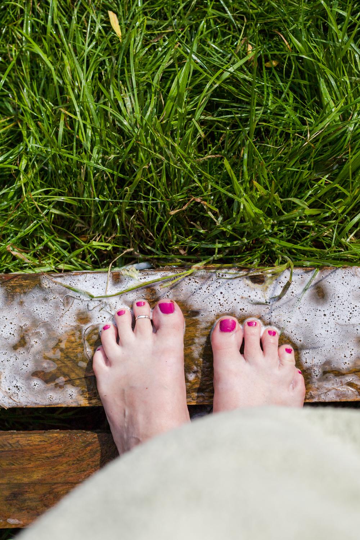 Freshly showered feet. Great shot for social media updates etc.