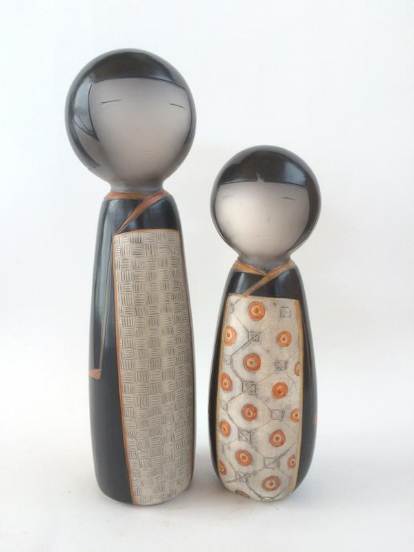 Kokeshi en céramique d'artiste
