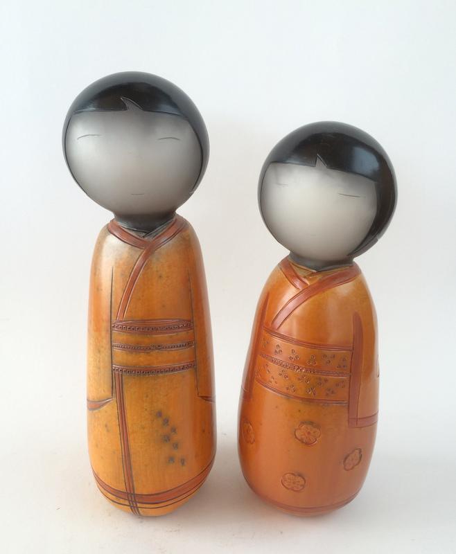 Argile sigillée kokeshi