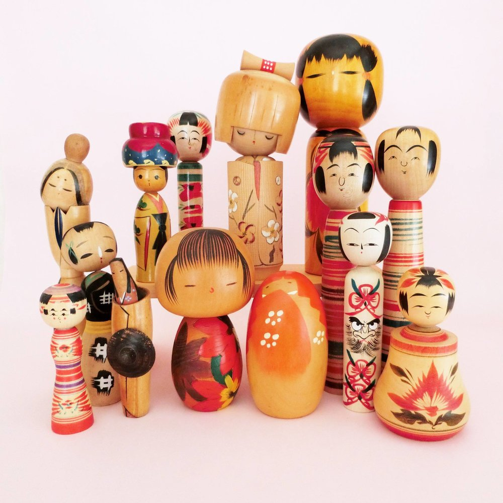 Vintage Kokeshi Dolls Restock - Find the perfect add to your collection!