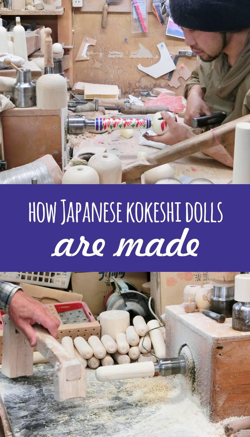 How kokeshi dolls are made?