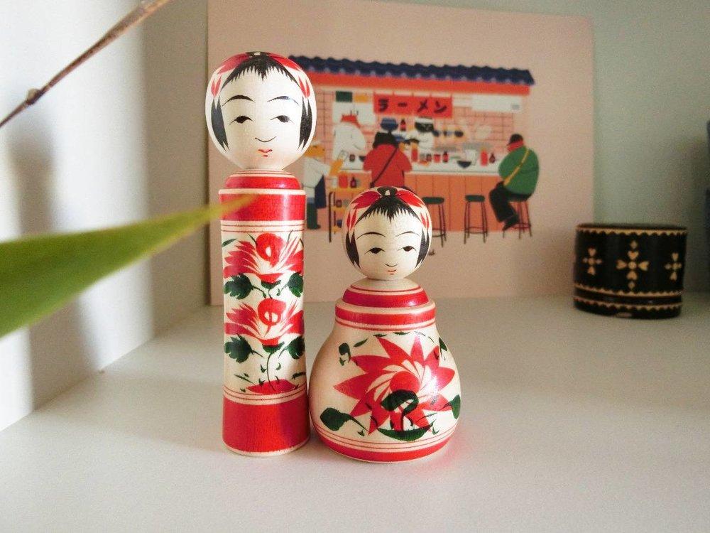 Naruko kokeshi sets - Sets de poupées Naruko