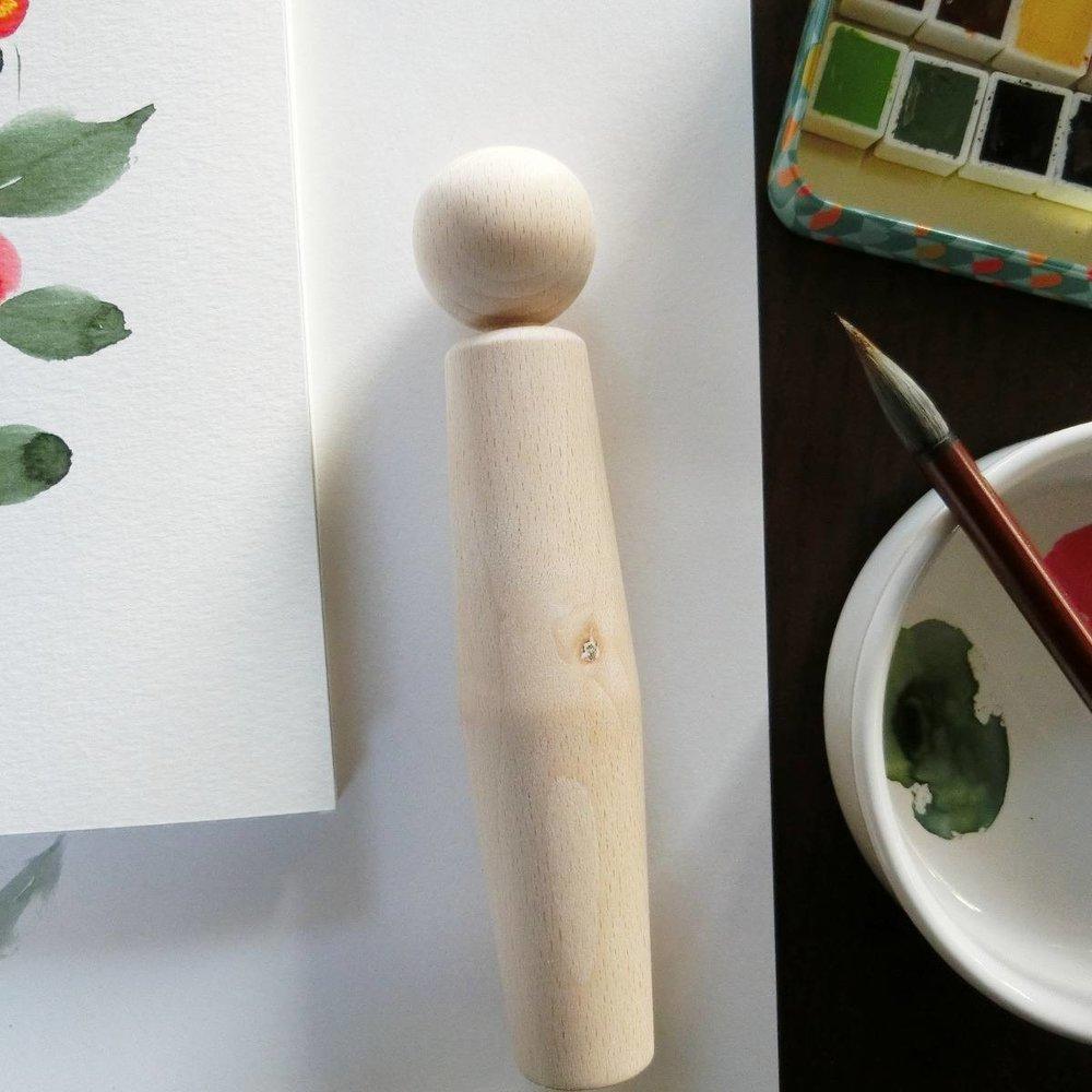 Blank kokeshi dolls! - Poupées kokeshi à peindre !