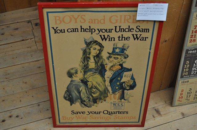 This original James Montgomery Flagg WW1 Savings Stamps Poster can be yours for $155 in booth 1121! #presidentsday #vintagepresidentsday #vintagefinds #retrotreasures #vtantiquemall #newenglandantiques