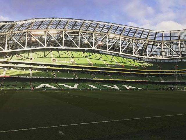 Pitch side for the @faireland vs Iceland game! Thanks @avivastadium and @ciamhiemc #instagram #insta #photography #photographer #instaireland #football #soccer #fitness #view #stadium #aviva
