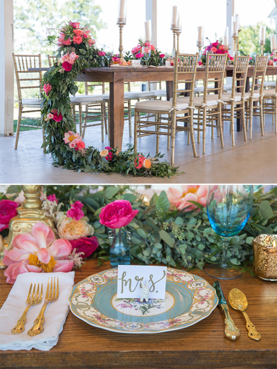 pink and gold wedding nashville