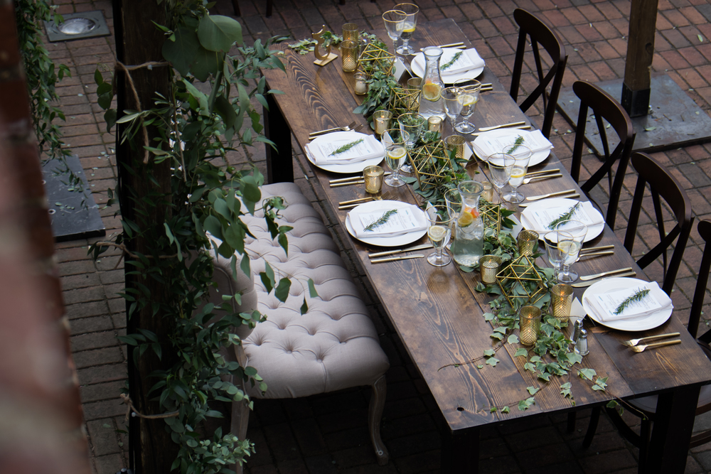head table garden wedding