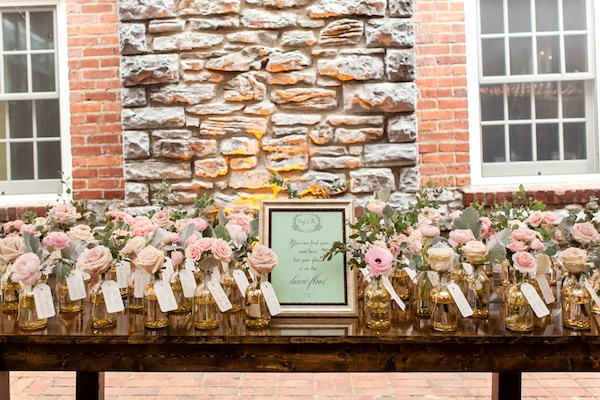 blush and gold wedding nashville