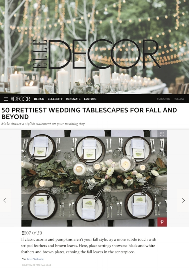 elle decor wedding tablescape
