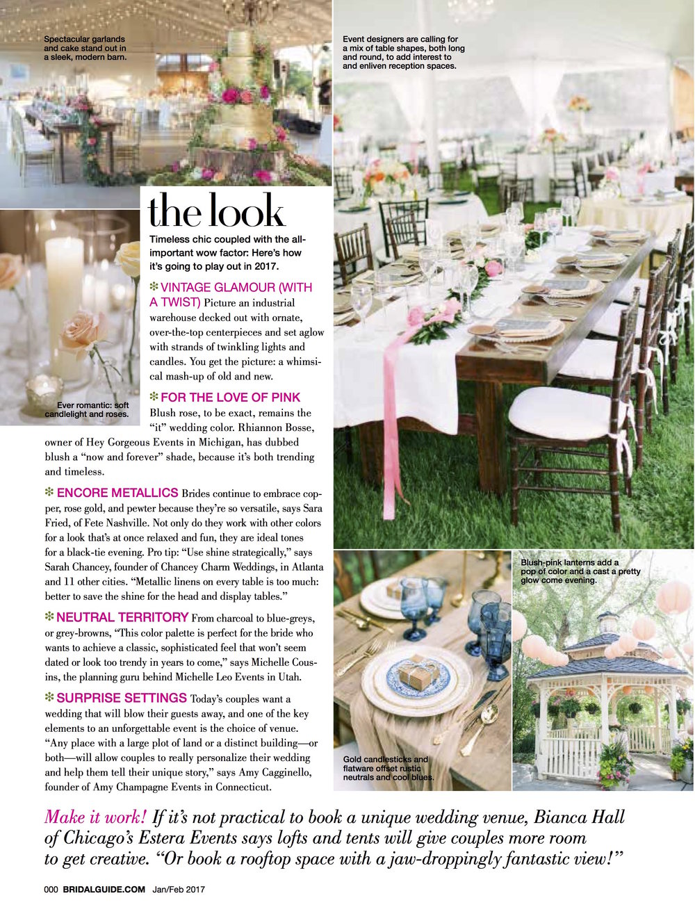 Bridal Guide 2017 Wedding Trend Report featuring Fte Nashville