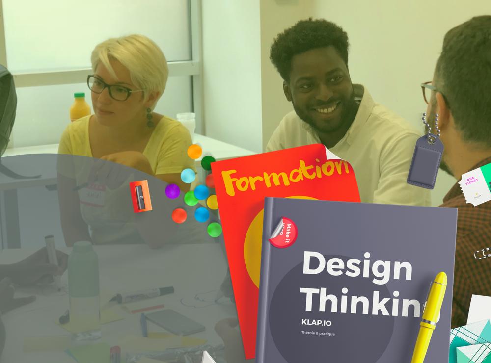 FORMATION DESIGN THINKING - Pendant 2 jours, Klap pour donne les clefs pour initier une démarche Design Thinking au sein de votre organisation.