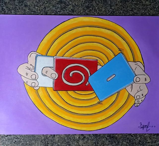 🌀 Cardistry is contaminated with spirals 🌀 #uzumaki ••• As some of you might know, I love art 🎨 I haven't really posted any of my art here so I decided to make one. Here are some of my proud artworks. Hope you like it 🌝