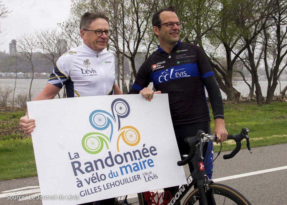 La Randonnée à vélo du Maire Gilles Lehouillier