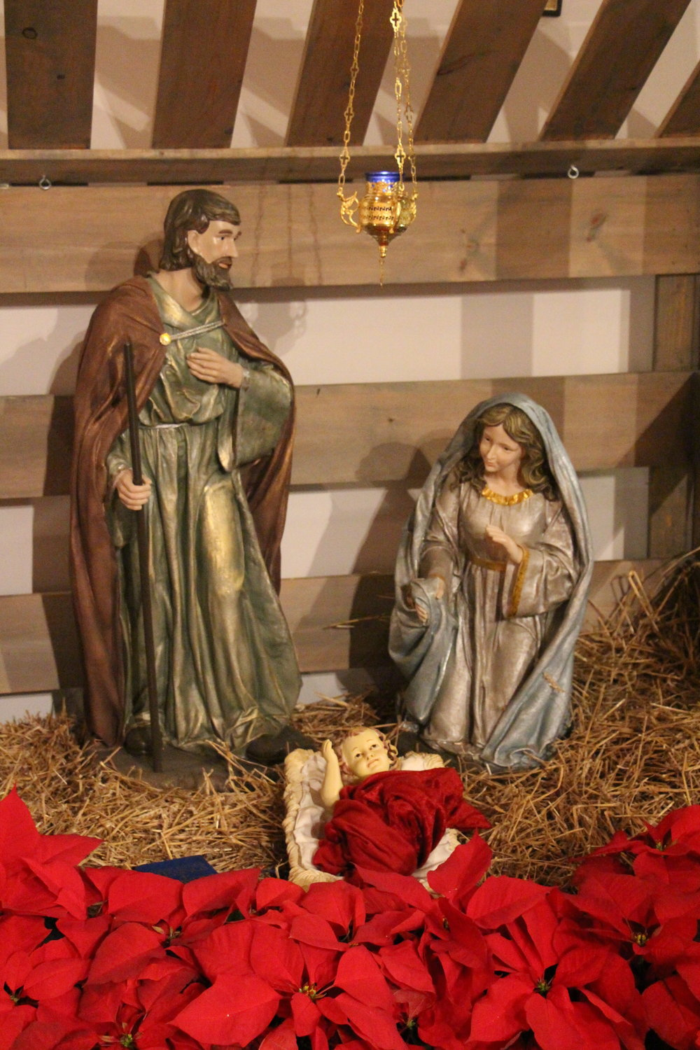 The Creche (without the Holy Family) is placed in the Church this Sunday.