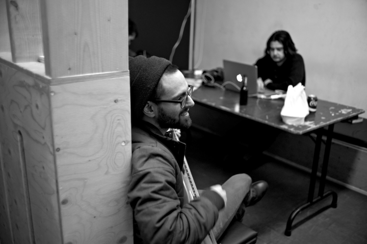 Backstage at Kavka (Antwerp, Belgium). Photo: Hannes Meier