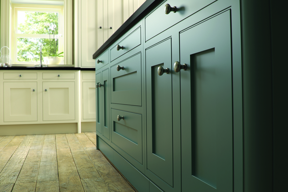 Iona Oak Inframe - Painted White Cotton With Ballroom Blue (Available In 21 Standard Colours & Bespoke Colours) Cameo