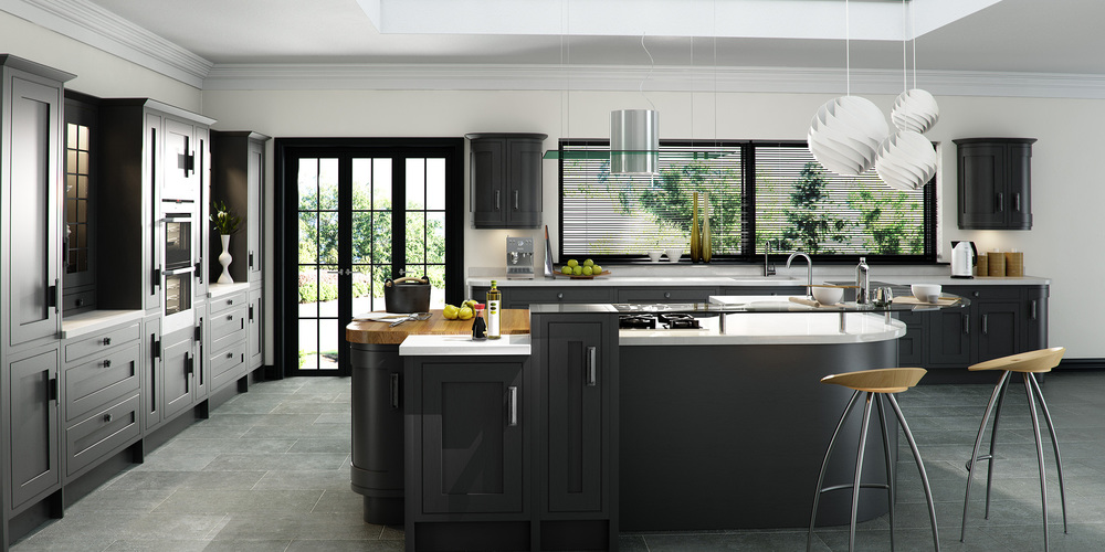 Iona Oak Inframe - Painted Graphite (Available In 21 Standard Colours & Bespoke Colours)
