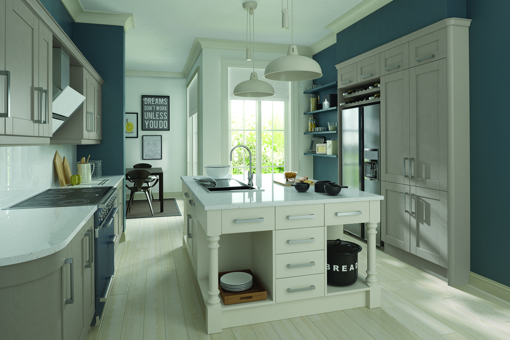 Madison - Painted Stone & Brilliant White (Available In 21 Standard Colours & Bespoke Colours)
