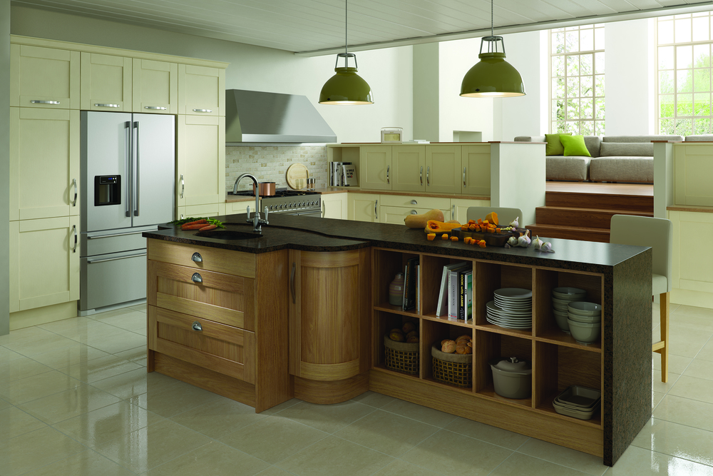 Madison - Oak & Painted Ivory (Available In 21 Standard Colours & Bespoke Colours)
