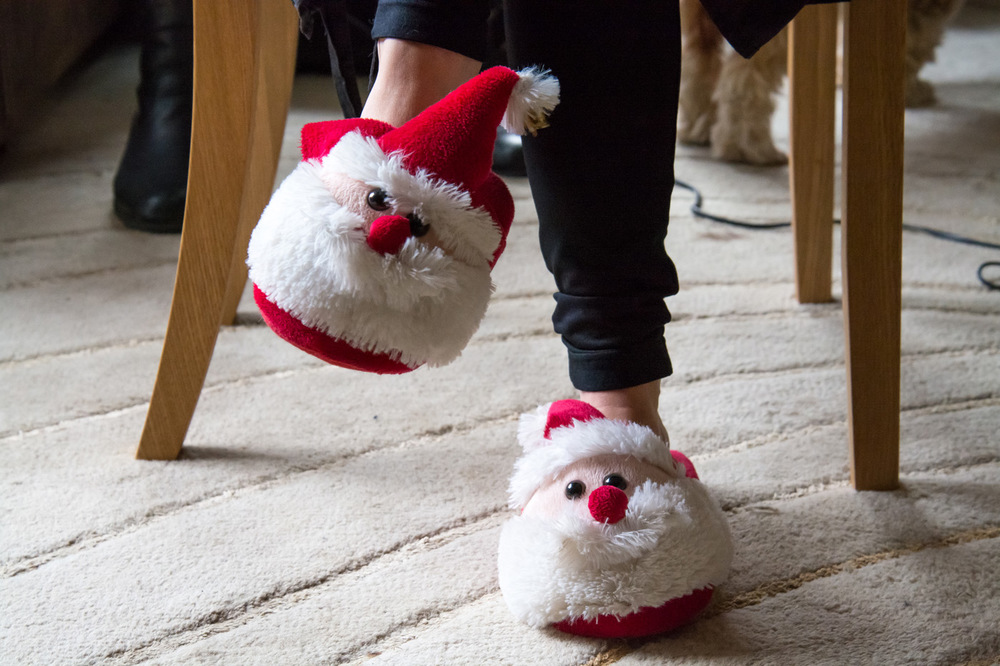Getting ready in the festive spirit