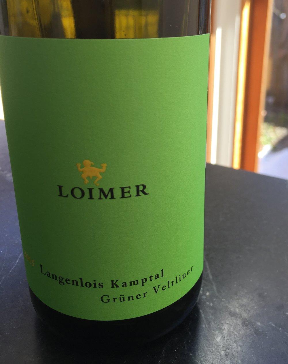 Loimer Gruner Veltliner Langenlois Kamptal 2015 review