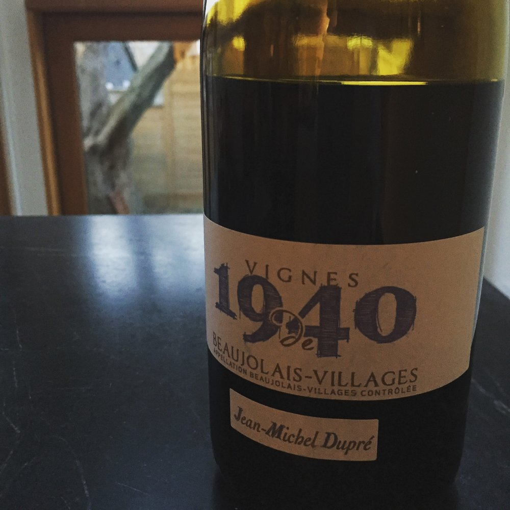 Jean Michel Dupre Vignes de 1940 Beaujolais Villages 2014 review
