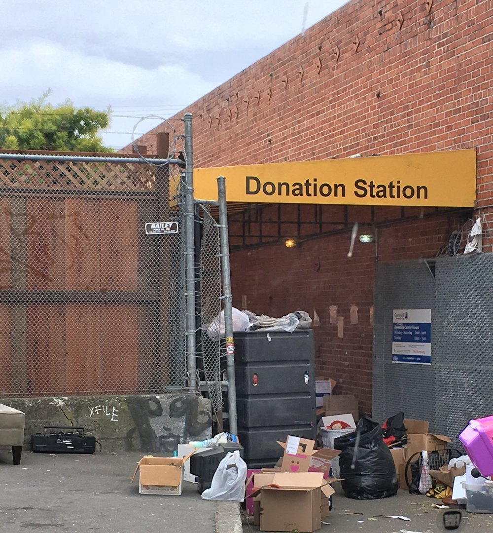 Sunday afternoon at Goodwill Donation Station