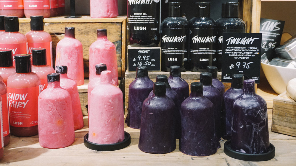 Snow Fairy & Twilight 'Naked Shower Gels with their packaged counterparts