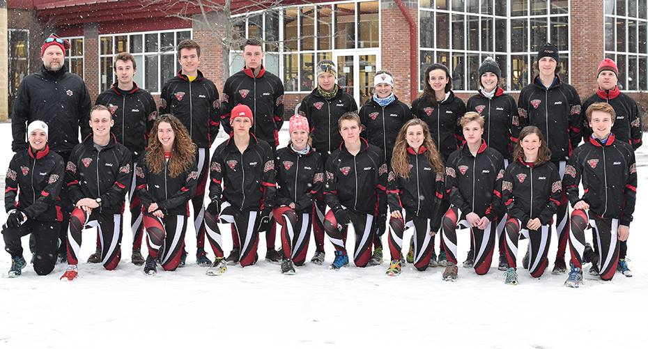 Liz (bottom left) and the Saint Lawrence Nordic Ski Team