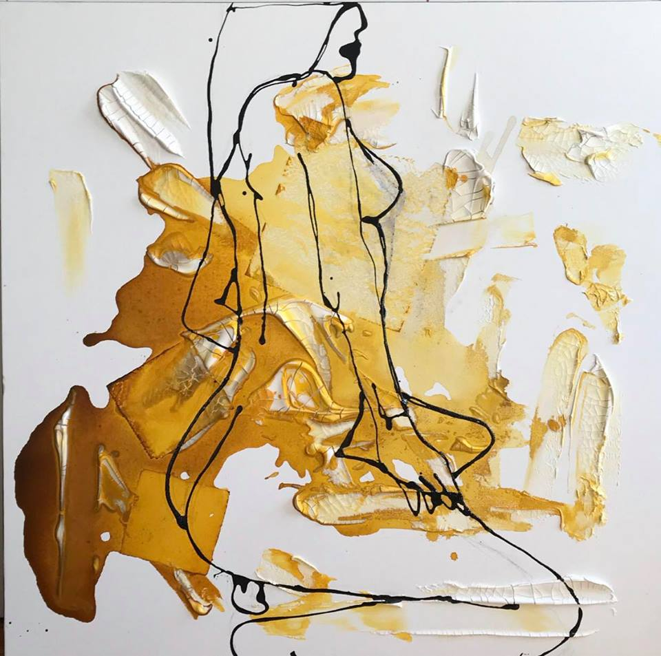 AGONY OF ECSTACY   36 x 36 x 1.25 inches  $3000