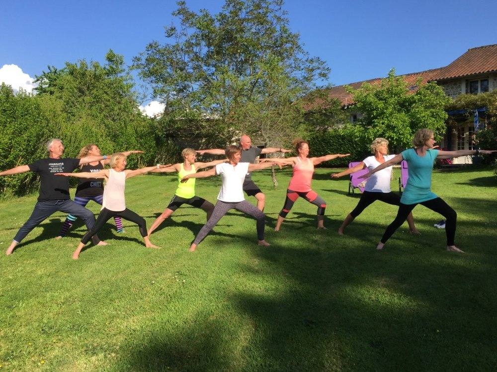 Yoga in the garden of La Vieille Maison