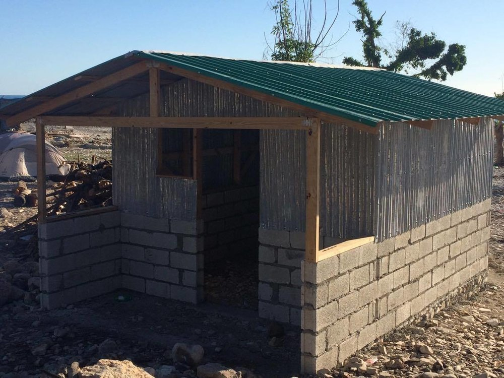 The first home in Port Salut to be built by Haiti ARISE.