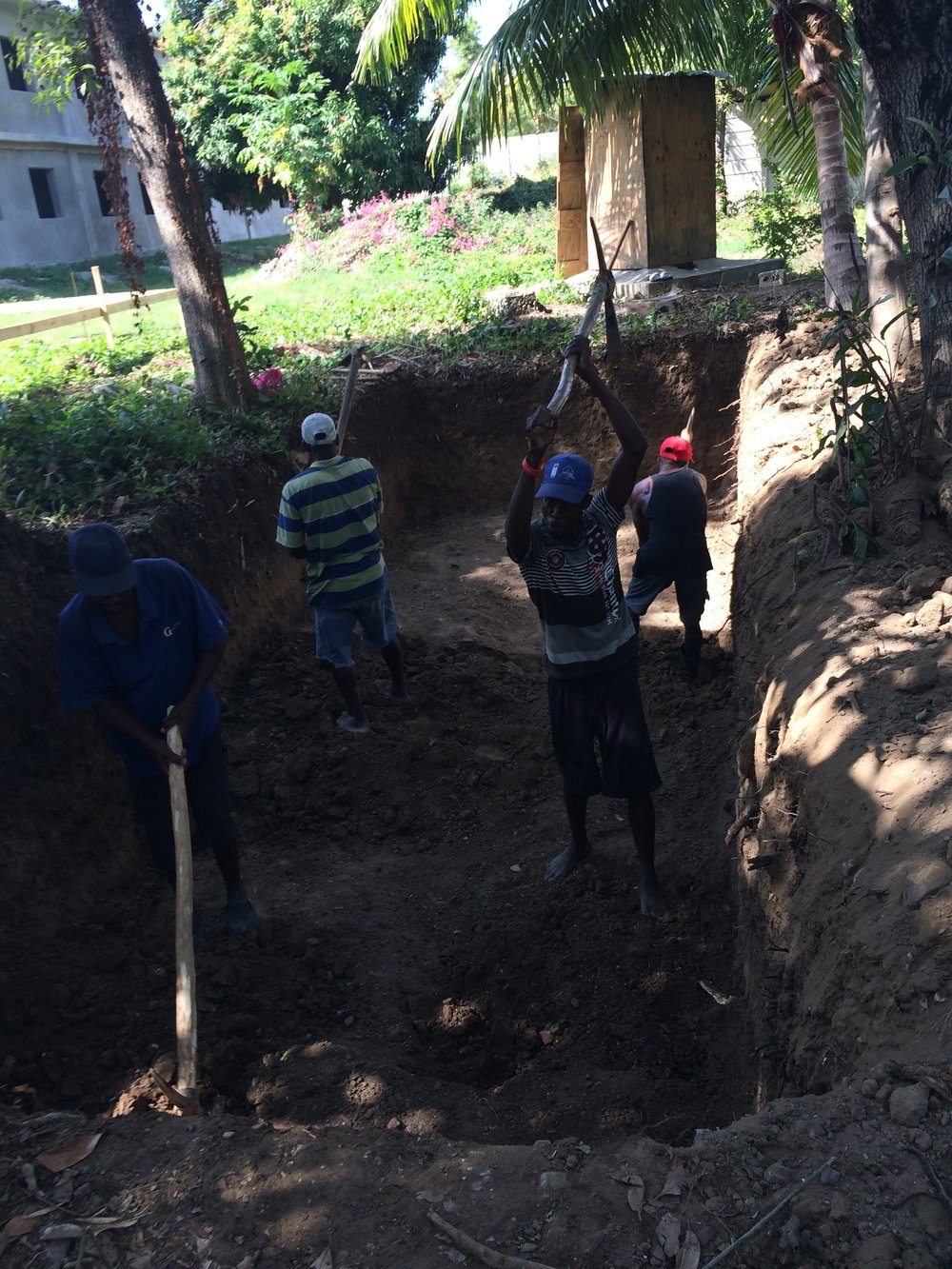 Digging septic for elementary school
