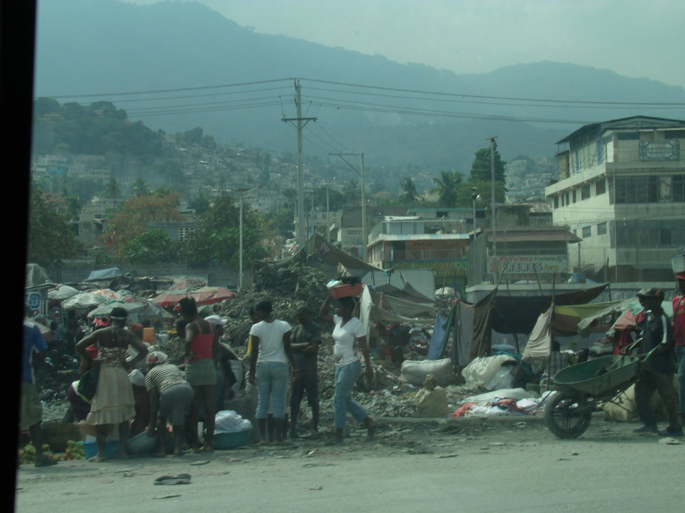 A glimpse of Port-Au-Prince on Day 1.