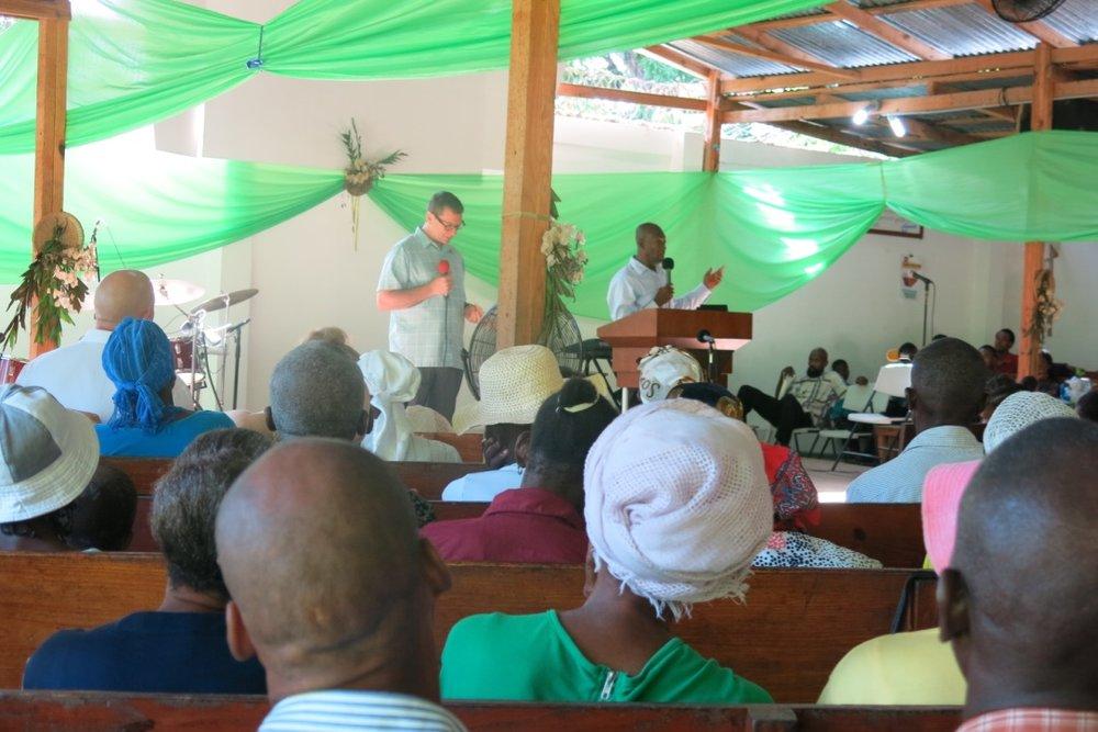 Scott shared a testimony of God's faithfulness