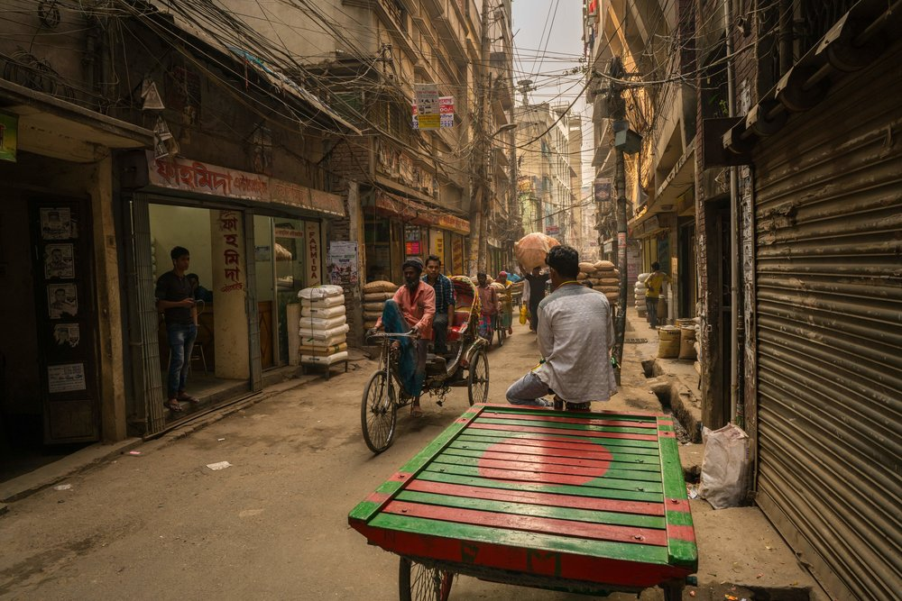 The streets of Old Dhaka are full of character
