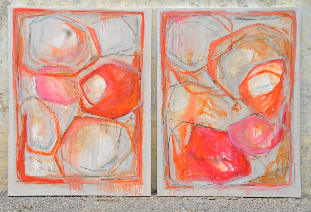 Twin 1 & 2.. 36 x 48. Gallery Wrapped Canvas. Available throgh Art Alley, Birmingham, AL.  www.artalleybham.com