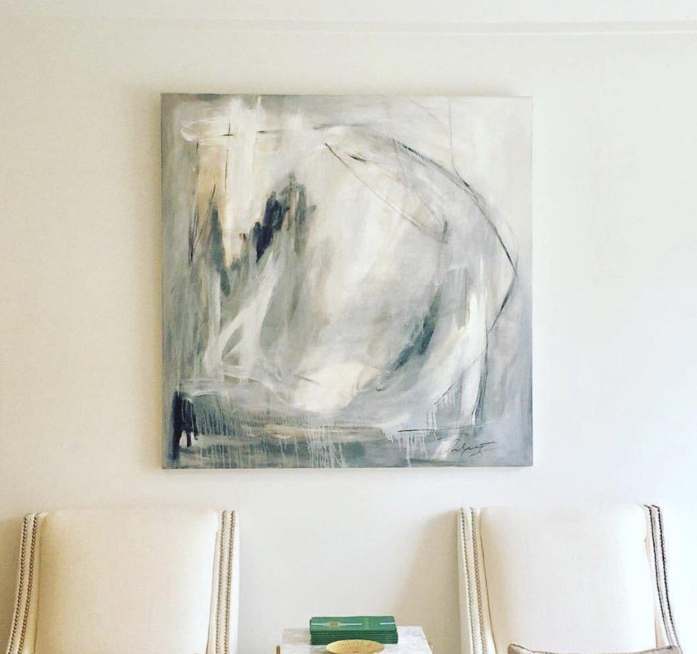48x48 Mixed Media on Canvas. Available through  Stone and Cloth , Baton Rouge, Louisiana.