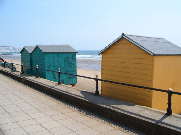 Beach huts. Another wonderful seaside tradition.